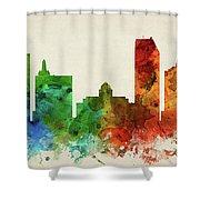 Atlantic City Skyline Panorama Usnjac-pa03 Shower Curtain