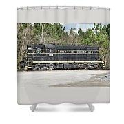 Atlantic Coast Line Gp7 #100 Shower Curtain