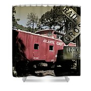 Atlantic Coast  Line Railroad Carriage Shower Curtain