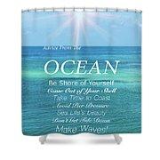 Atlantic Ocean Shower Curtain