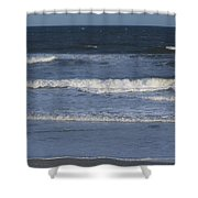Atlantic Ocean Gradient Shower Curtain