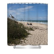 Atlantic Ocean On The East Central Coast Of Florida Shower Curtain