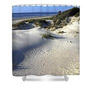 Atlantic Ocean Sand Dunes Shower Curtain