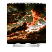 Atlantic Ocean Sunset-1 Shower Curtain