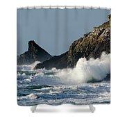 Atlantic Splash Shower Curtain