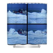 Atlantic Storm Hitting Lahinch Shower Curtain