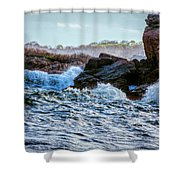 Atlantic Waves 2 Shower Curtain