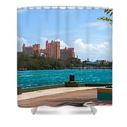 Atlantis Across The Harbor Shower Curtain