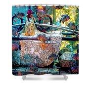 Atlantis Aquarium In Watercolor Shower Curtain