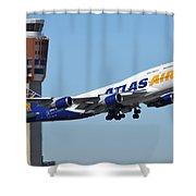 Atlas Air Boeing 747-446 N465mc Phoenix Sky Harbor January 12 2015 Shower Curtain
