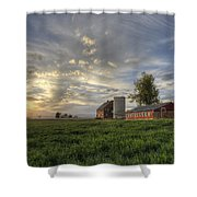 Atmosphere And Alfalfa - Larimer County, Colorado Shower Curtain