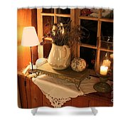 Atmospheric Still Life Shower Curtain