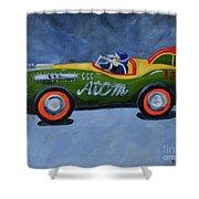 Atom Racer  Shower Curtain