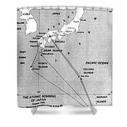 Atomic Bombing Of Japan, 1945 Shower Curtain