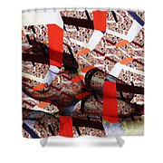 Atomic Link Pinup Shower Curtain