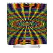 Atomic Rainbow Shower Curtain