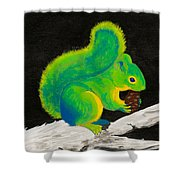 Atomic Squirrel Shower Curtain