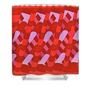 Atomic Structure No. 86 Shower Curtain