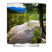 Atop Falling Spring Fall Shower Curtain