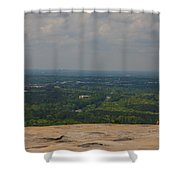 Atop Of Stone Mountain Shower Curtain