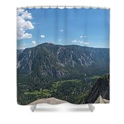 Atop Upper Falls Hike Shower Curtain