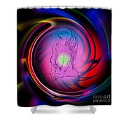 Atrium Abstract - Perfection Akt Shower Curtain