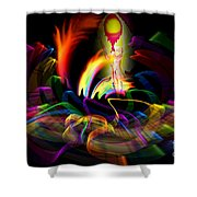 Atrium Outburst Angel Shower Curtain