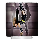 Attack Of The Bat Gal Shower Curtain