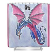 Attack Of The Dragon Shower Curtain