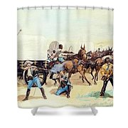 Attack On The Supply Train 1885 Shower Curtain