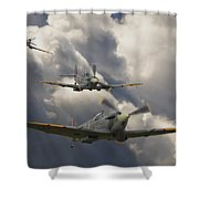 Attack Out Of The Sun Shower Curtain