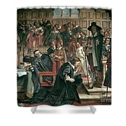 Attempted Arrest Of 5 Members Of The House Of Commons By Charles I Shower Curtain
