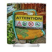 Attention Vernazza Trail Head Italy Dsc02657 Shower Curtain