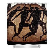 Attic Black-figured Vase Shower Curtain