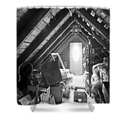 Attic Space Bw Shower Curtain