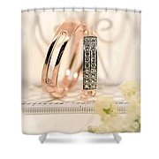 Attractive Wedding Ring Shower Curtain