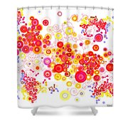 Attractors Shower Curtain