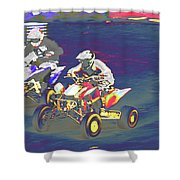 Atv Racing Shower Curtain