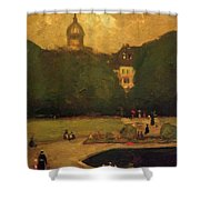 Au Jardin Du Luxembourg 1899 Shower Curtain