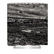 Auburn Lewiston Railway Bridge Shower Curtain