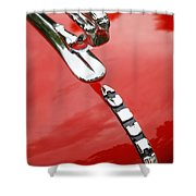 Auburn Speedster Shower Curtain