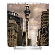 Auckland Sky Tower Shower Curtain