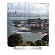 New Zealand - Picturesque Devonport Beach Shower Curtain