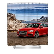 Audi A4 Shower Curtain