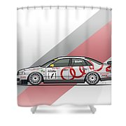Audi A4 Quattro B5 Btcc Super Touring Shower Curtain