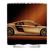 Audi R8 2007 Painting Shower Curtain