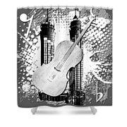 Audio Graphics 1 Shower Curtain
