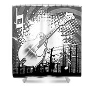 Audio Graphics 4 Shower Curtain