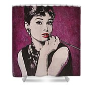 Audrey Hepburn - Breakfast Shower Curtain