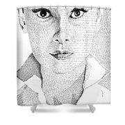 Audrey Hepburn In Her Own Words Shower Curtain